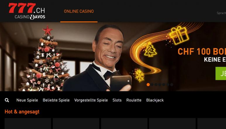 Ein Screenshot vom Casino 777 Casino